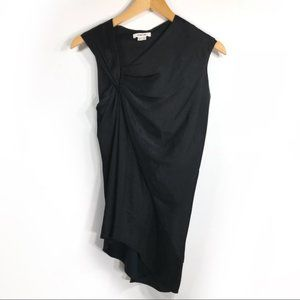 Helmut Lang Black Asymmetric Sleeveless Top